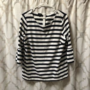 Talbots flare sleeve striped top